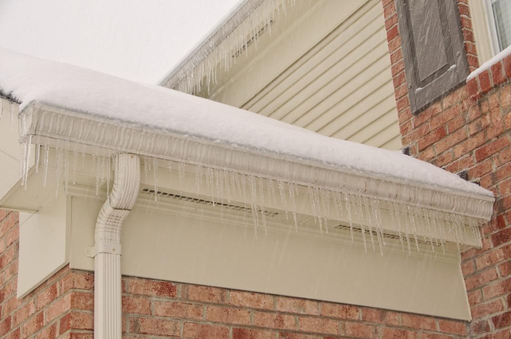 icicles on gutters