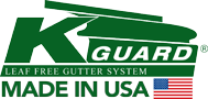 Gutter Guards by K-Guard™ | Leaf Free Gutter Guard System